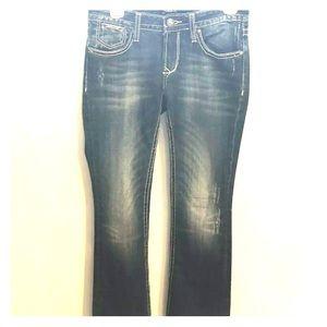 Rerock For Express Bootcut Jeans Size 2 Regular
